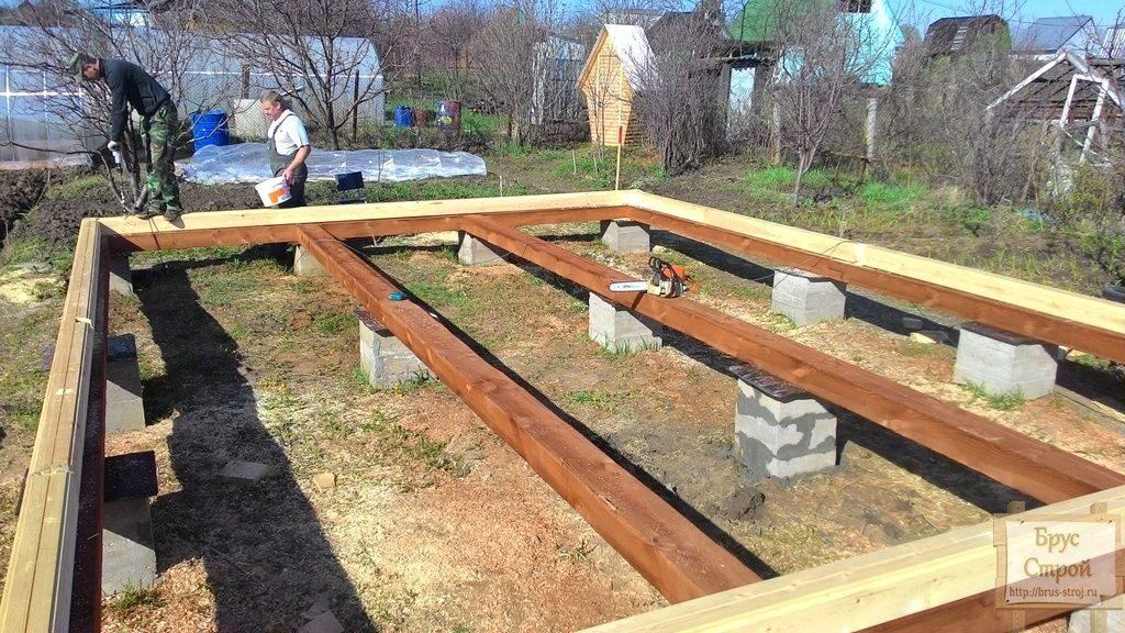Фундамент для дома из бруса 6х9 своими руками 39