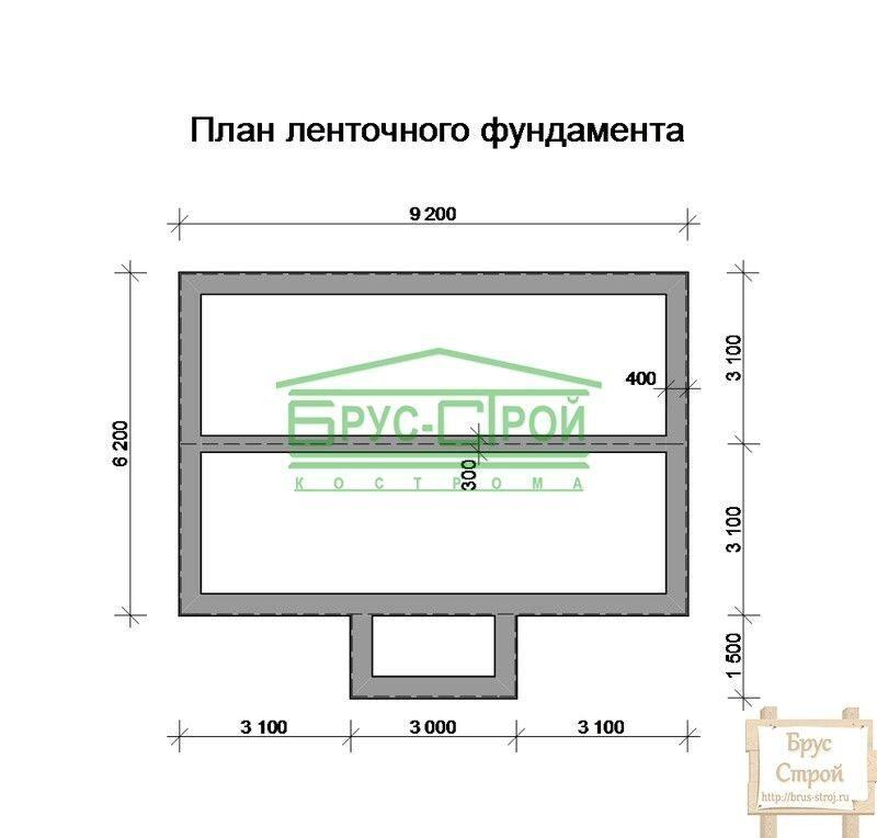 Фундамент для дома из бруса 6х9 своими руками 6
