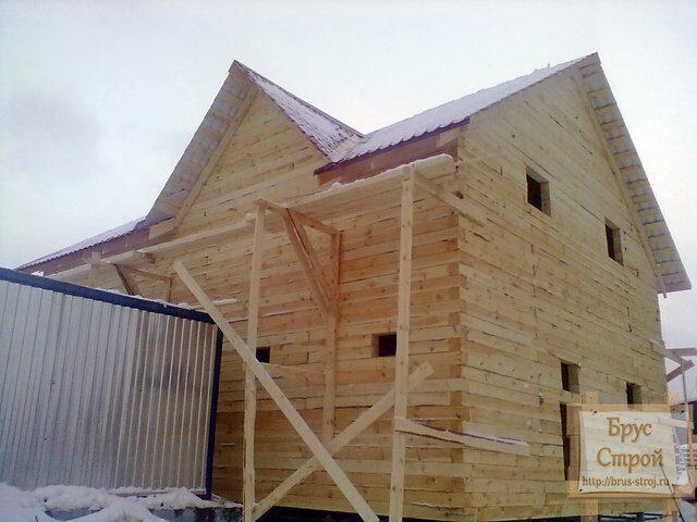 Перечень работ по устройству крыши дома из бруса