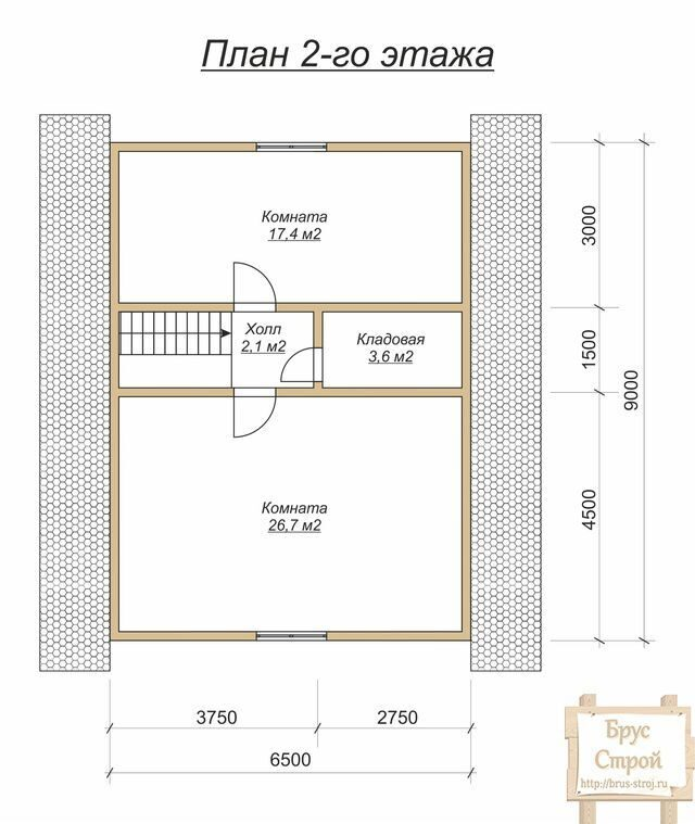 Планировка одноэтажного дома 2 этажа
