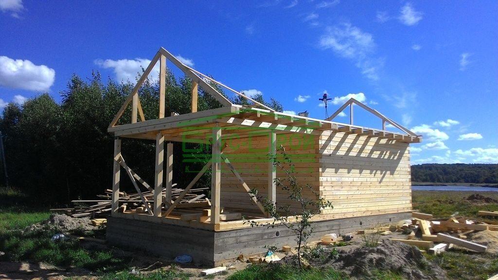 Строительство крыши для бани своими руками